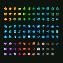 All the Microsoft's Fluent Design icons