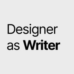 designer as writer