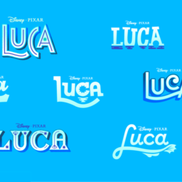 disney and pixar's luca title treatment concepts